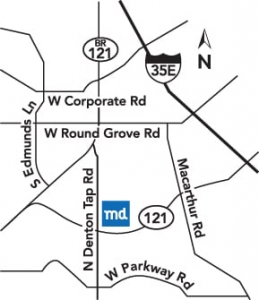 Pediatric Center in Coppell Map